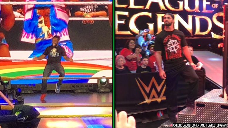 xavier woods seth rollins nxt stars league of legends tv taping appearance