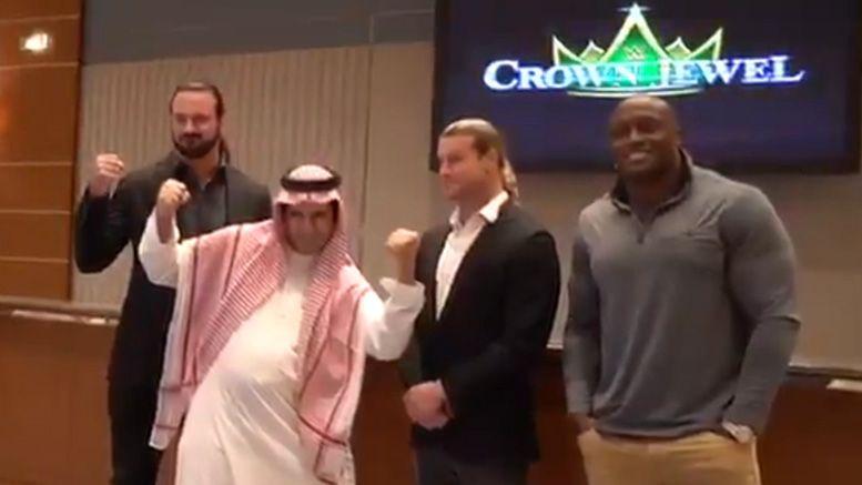 crown jewel wwe praise saudi arabia videos propaganda