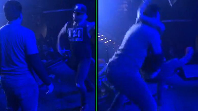 enzo amore stunner first concert video whiskey