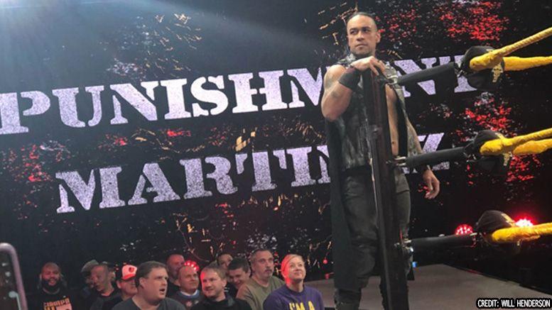 punishment martinez nxt tv debut tapings matt riddle