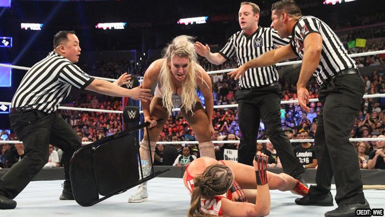 ronda rousey damage face brutal aftermath charlotte flair attack survivor series