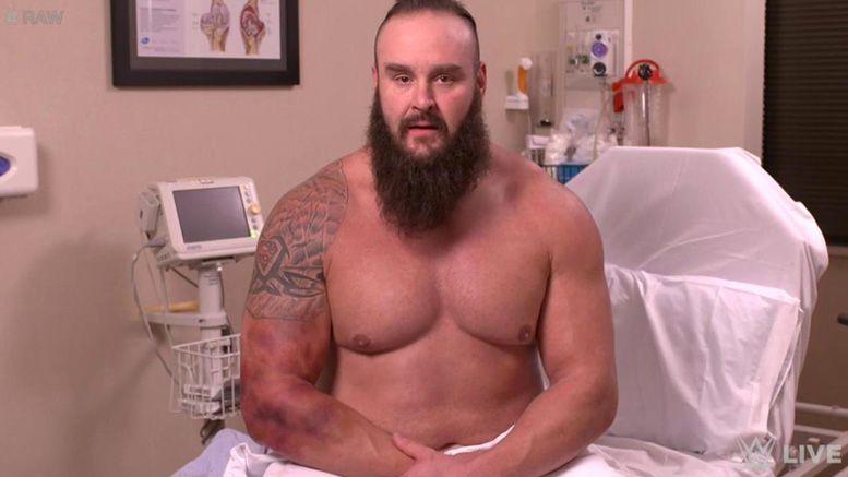 braun strowman elbow injury update bruised
