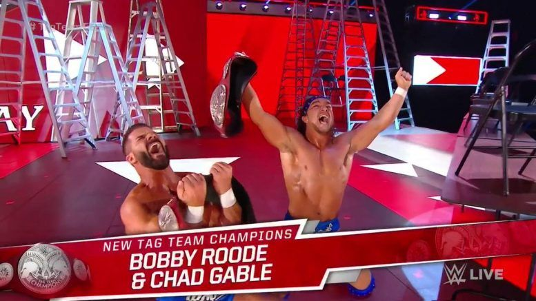 bobby roode chad gable raw tag team champions video win