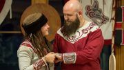 sarah logan raymond rowe married viking wedding photos