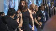 haka mada aquaman jason mamoa premiere haka dance video