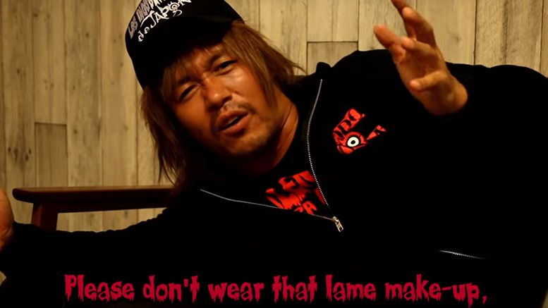 tetsuya naito chris jericho message wrestle kingdom 13 video promo