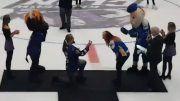 wolfgang engaged proposal video hockey game