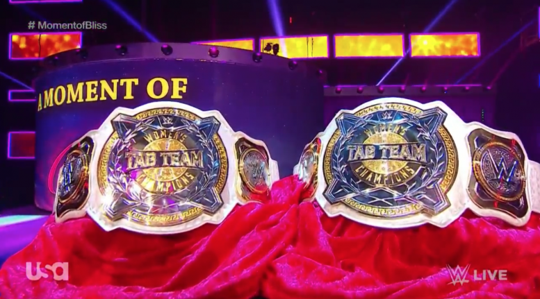 raw women's tag team belts championships championship