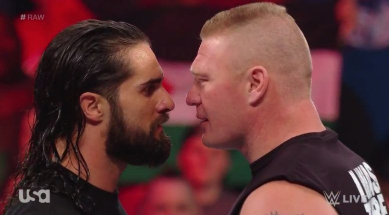 seth rollins brock lesnar wwe wrestlemania official video raw