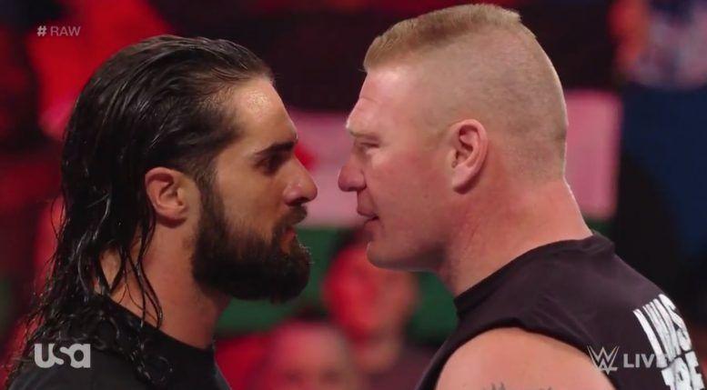seth rollins brock lesnar wwe wrestlemania official video raw