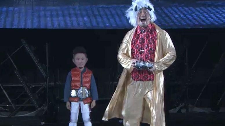 kushida entrance wrestle kingdom 13