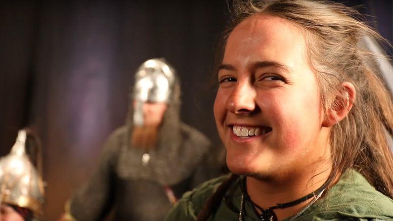 sarah logan war raiders entrance takeover video behind the scenes
