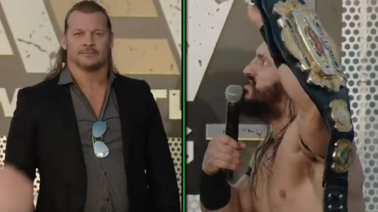 pac chris jericho all elite wrestling rally press conference