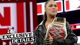 ronda rousey contract details not leaving taking break