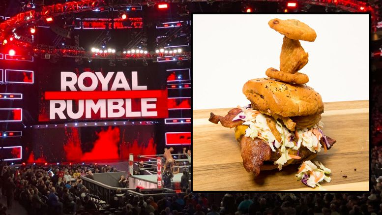 royal rumble burger chase field wwe
