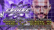 ricochet, nxt,wwe, evolve, velveteen dream, orange cassidy