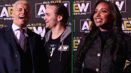all elite wrestling interviews aew cody rhodes brandi nick jackson
