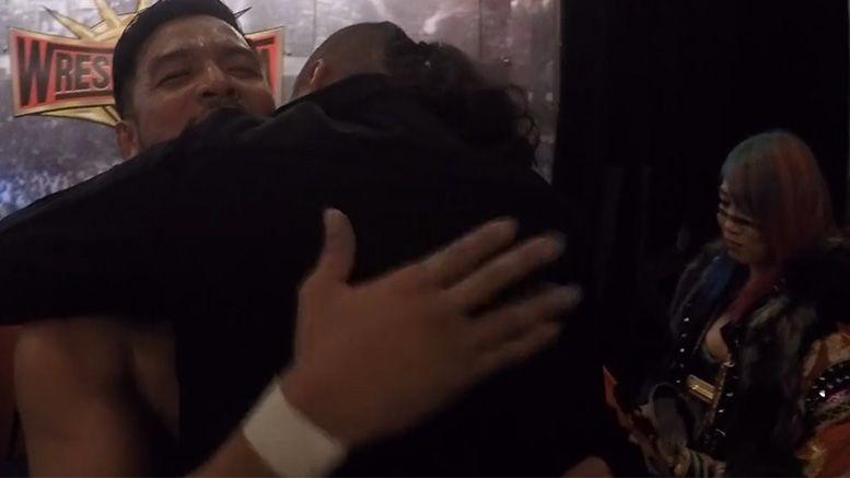 hideo itami wwe release final match hug footage video shinsuke nakamura asuka