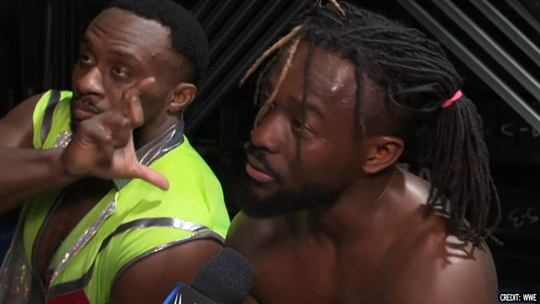 kofi kingston chip shoulder interview elimination chamber wwe smackdown results