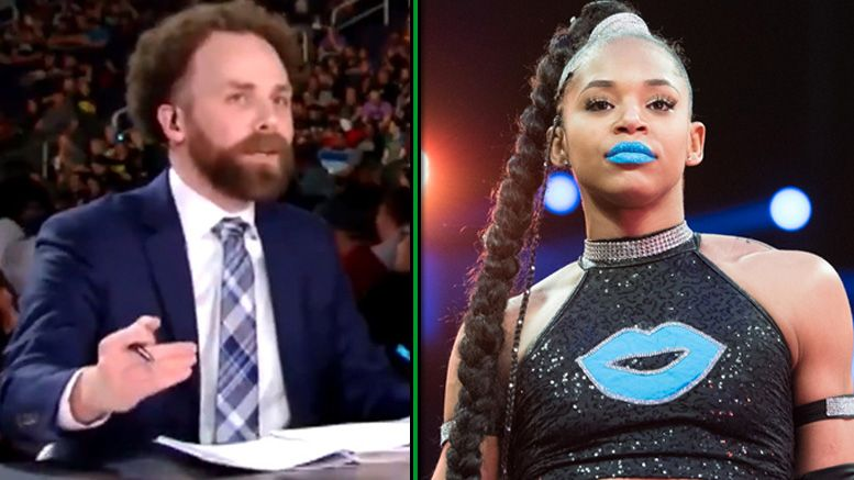 sam roberts bianca belair takeover rant conversation occurred not scd wwe nxt er