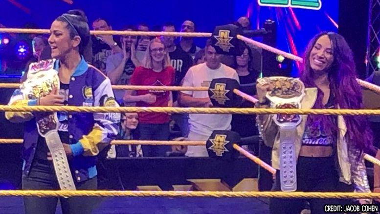 sasha banks bayley nxt wwe womens tag team titles photos