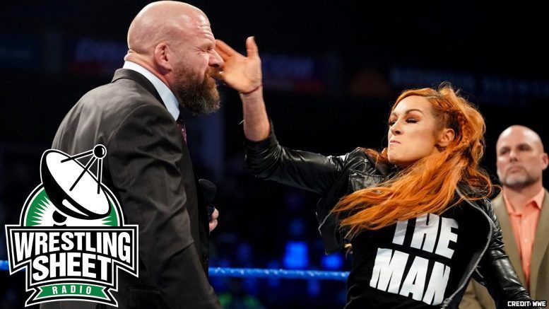 smackdown recap becky lynch triple h pro wrestling sheet