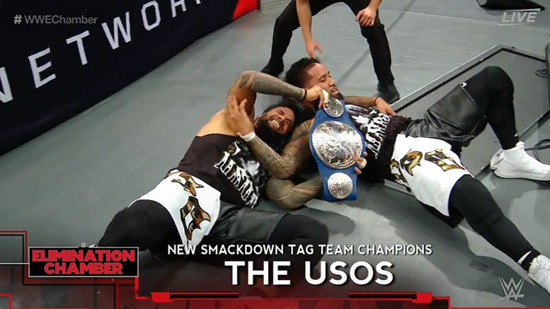 usos win smackdown tag team titles video