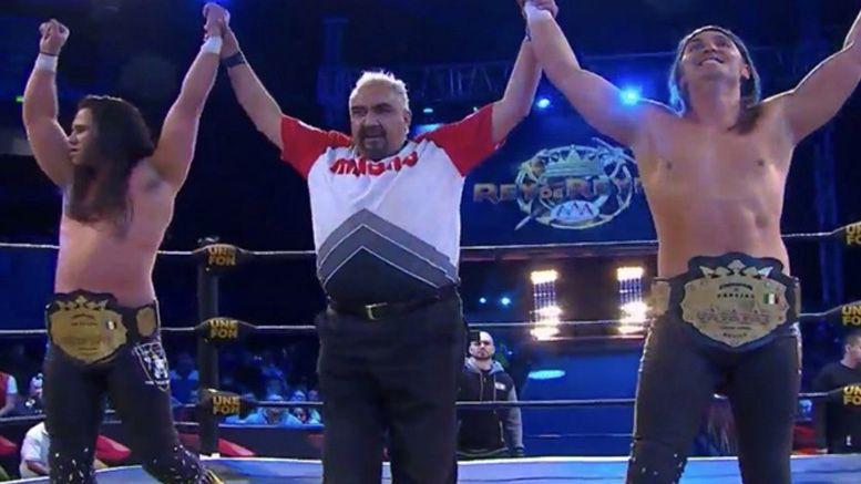 young bucks aaa tag team champions aew rey de reyes