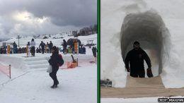 shinsu pro wrestling japan snow ring ski resort photos