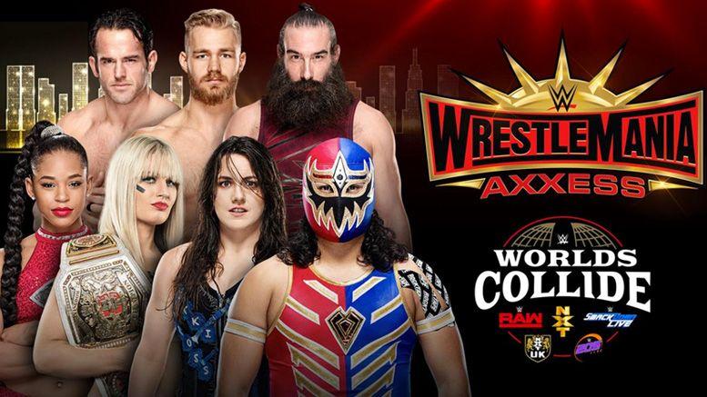worlds collide wwe nxt alumni 205 live smackdown raw axxess wrestlemania