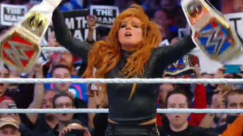 becky lync wins wrestlemania ronda rousey charlotte flair