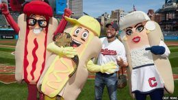 johnny gargano first pitch indians video mustard