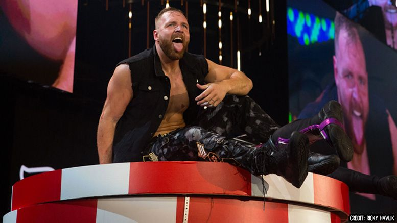 dean ambrose jon moxley aew all elite wrestling double or nothing wwe championship title