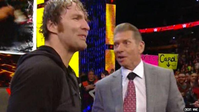 dean ambrose jon moxley vince mcmahon killing wwe creative process talk is jericho interview aew