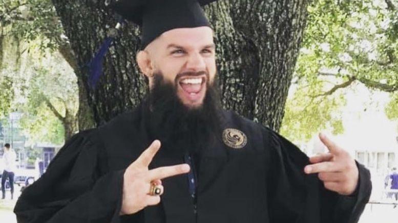 josh woods roh wrestler graduates college
