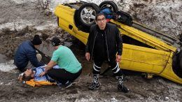 psicosis wwe wcw driver saved drowning crash car