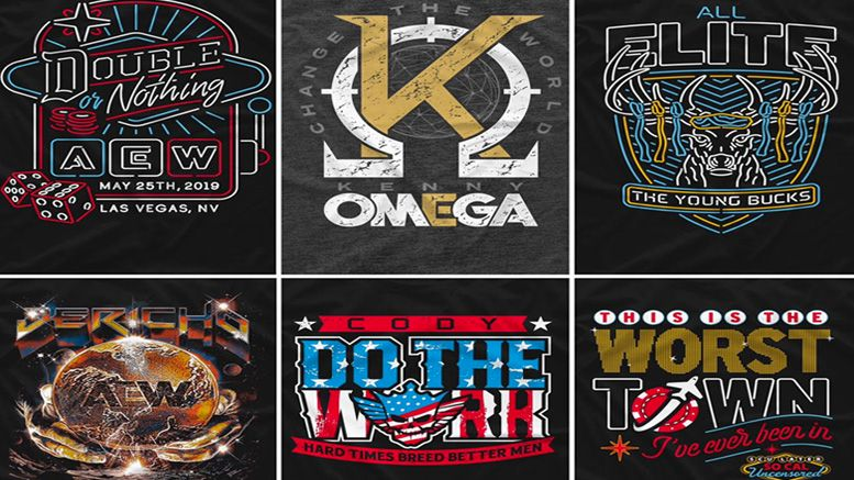 pro wrestling tees all elite wrestling aew shirts sale