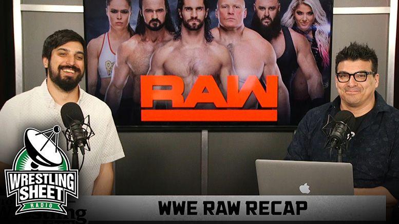raw recap pro wrestling sheet