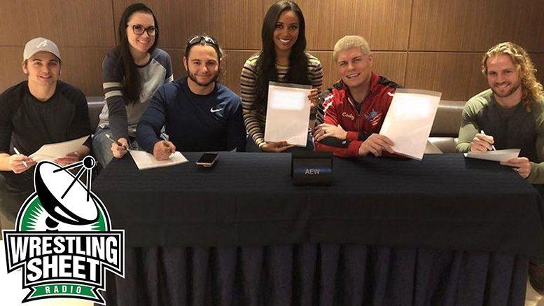 wrestling sheet radio aew all elite wrestling tv deal