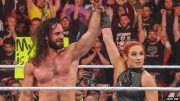 becky lynch nuts nutshot seth rollins stomping grounds lacey evans baron corbin wwe