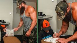 braun strowman make a wish kid honorary contract raw wwe