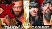colt cabana best in the world pay per view ppv injured out of pulled injury briscoes nwa roh