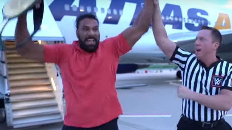 jinder mahal 24/7 championship wwe airport tarmac r-truth