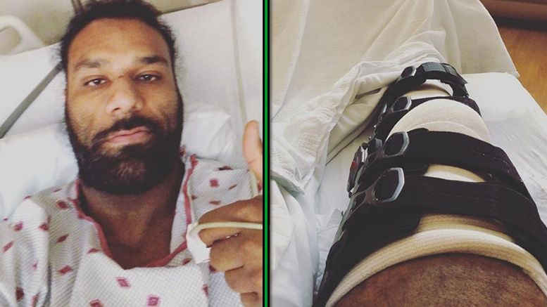 jinder mahal knee injury surgery
