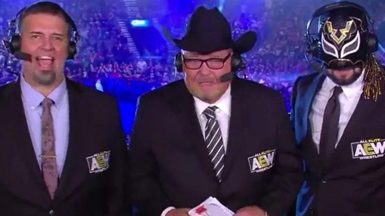 jim ross aew announcers announce team double or nothing excalibur alex marvez