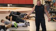 brock lesnar training university of minnesota