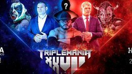 Cain velasquez aaa wrestling debut triplemania cody rhodes psycho clown