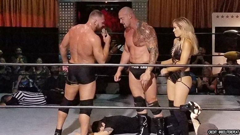 jon moxley killer kross surprise appearance match wrestle
