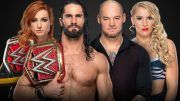 wwe extreme rules winner takes all seth rollins becky lynch baron corbin lacey evans