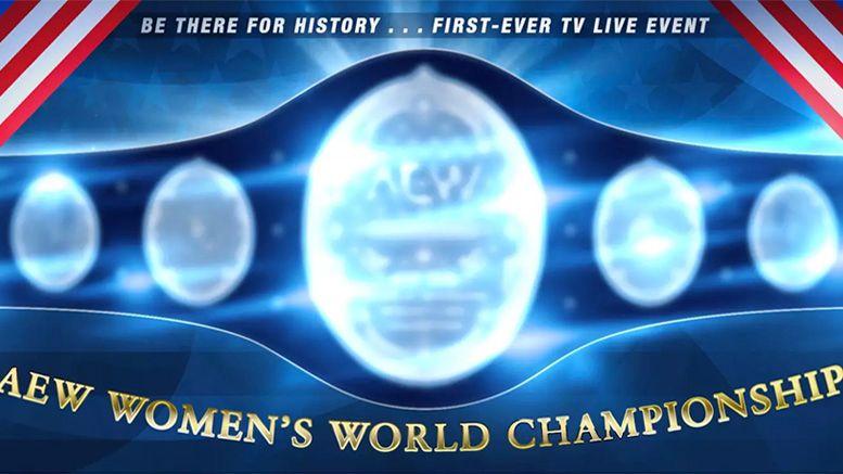 all elite wrestling aew women's title championship tnt debut